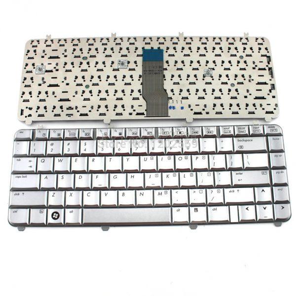Клавиатура-ноутбука-для-HP-павильон-dv5-dv5-1000-запчасти-замена-QWERTY-серебро-план-сша-K509-dv5