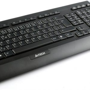 A4TECH 9300F (GR-152+G9-730FX) V-TRACK WIRELESS KEYBOARD+MOUSE SET USB BLACK US+RUSSIAN