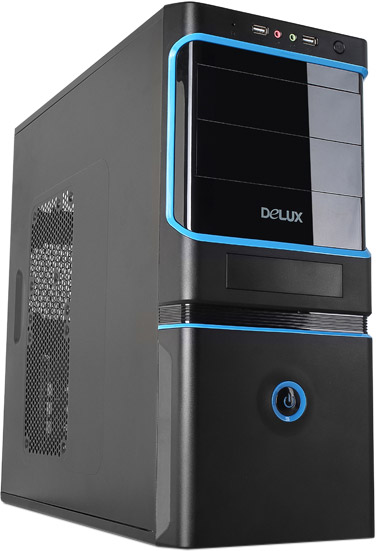 DELUX ATX DLC-MV887 BLACK BLUE