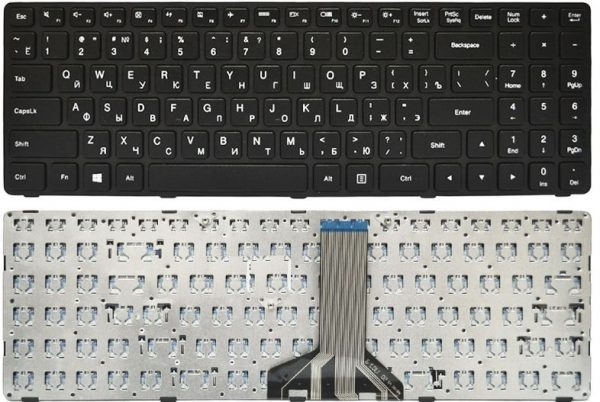Клавиатура LENOVO IdeaPad 100-15IBD 300-15ISK 300-15IBR 300-17ISK 500-15ACZ 500-15ISK рус англ