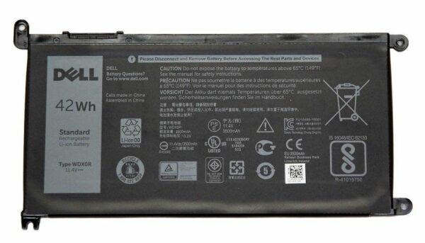 Батарейка Original DELL Inspiron WDX0R 15 5568 13 7368 7000 T2JX4 11.4V 3500mAh