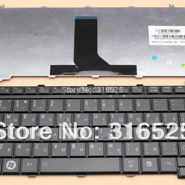 Новый-Русский-RU-клавиатура-Для-Toshiba-Satellite-U500-U505-Portege-M900-Глянцевый-Черный-Ноутбук-V101462AK1-0KN0