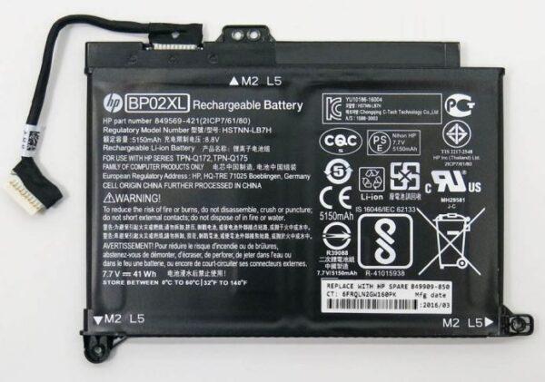 Батарейка Original HP BP02XL 15-AU 15-AU010WM 15-AU018 15-AU136TX HSTNN-LB7H HSTNN-UB7B 7.7V 5150mAh